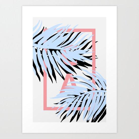 CALI blue Art Print