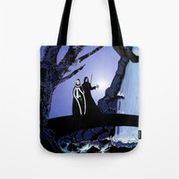 rogue Tote Bags featuring Rogue & Remy  by Andrew Formosa
