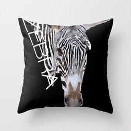 Zebra head Throw Pillow