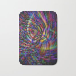 Swirls of Toothpicks Bath Mat