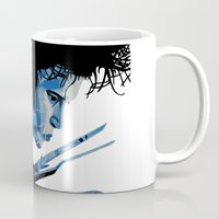 edward scissorhands Mugs featuring Edward Scissorhands by OnaVonVerdoux