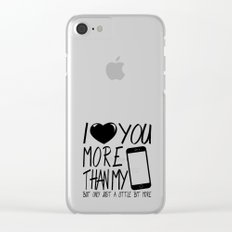 Love you more - valentine Clear iPhone Case