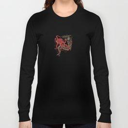 tattoo design - octopus fighting shark Long Sleeve T-shirt