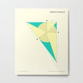 Heron's Formula Metal Print