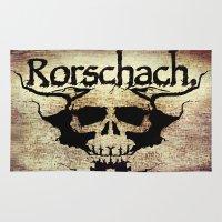 rorschach Area & Throw Rugs featuring Rorschach by Dominic Mastracchio