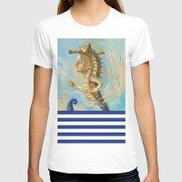 sea horse T-shirts featuring Sea horse by Nataliya Derevyanko