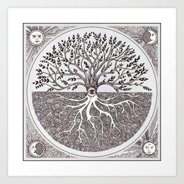 Tree of Life as above so below Art Print