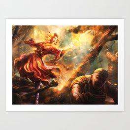 Fire Kami's Greed Art Print
