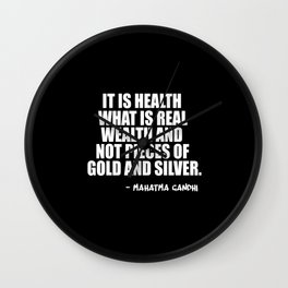 it is health Wall Clock