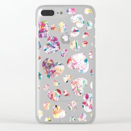 Colorful heart by heart Clear iPhone Case