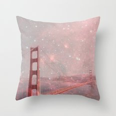 Stardust Covering San Francisco Throw Pillow
