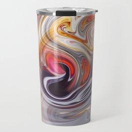 Red & balck flow Travel Mug