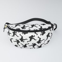 Classic American Football Pattern Silhouettes Fanny Pack