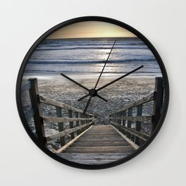 Steps to the Ocean Wall Clock