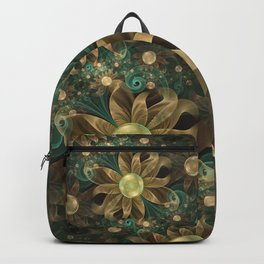 Shining Gems Blooming as Bronze and Copper Flowers Backpack