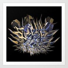 Fractal Fire Ball Art Print