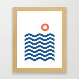 Nautical 02 Seascape Framed Art Print
