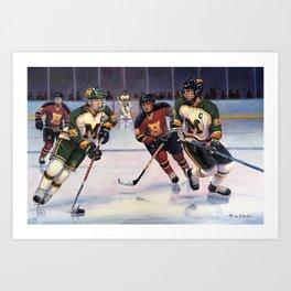 Lucas and Nick Esposito: Montgomery Cougars vs. Hillsborough Raiders Art Print