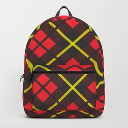 Red and black plaid pattern Backpack