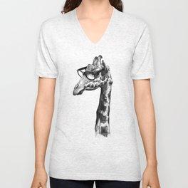 Short-Sighted Giraffe Unisex V-Neck