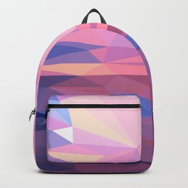 abstract pattern geometric triangle mosaic background low poly style Backpack