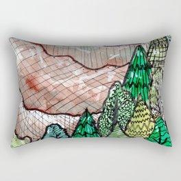 landscape forest montain pines Rectangular Pillow
