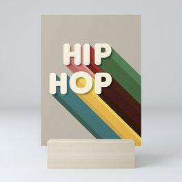 HIP HOP - typography Mini Art Print