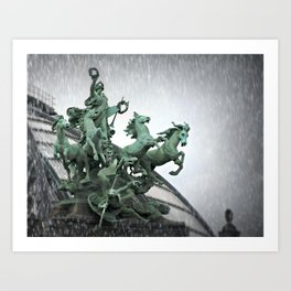 Immortality In The Rain Art Print