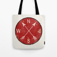 compass Tote Bags featuring Compass by Duke Dastardly