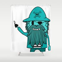 pirate Shower Curtains featuring Pirate by TheAsmek