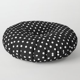 Black & White Polka Dot Pattern Floor Pillow