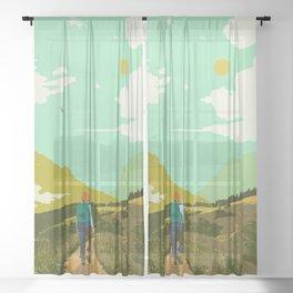 WARM TRAILS Sheer Curtain