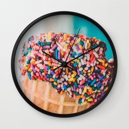 Sprinkle Cone Wall Clock
