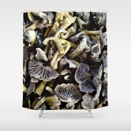 Chopped mushrooms - Forest harvest Shower Curtain