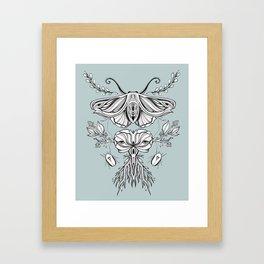 Black Mirror - Moss Framed Art Print