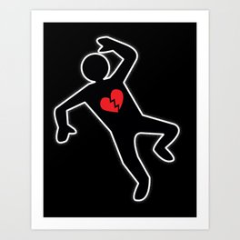 Love Crime Scene & Another Casualty of Love Art Print