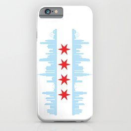 Chicago Skyline Flag iPhone Case