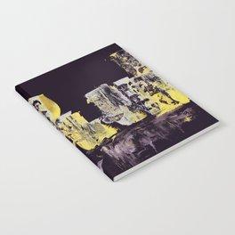 Yellow Purple Cityscape Notebook