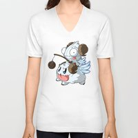 invader zim V-neck T-shirts featuring Invader Poro Pix by HelloTwinsies
