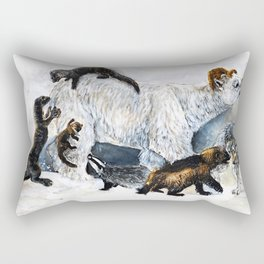 Awesome mustelids Rectangular Pillow
