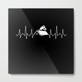 Roofer Heartbeat Metal Print