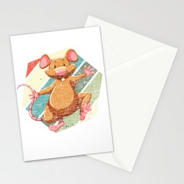 Retro Vintage Rat Mice Mouse Animal Pet Rodent Gift Stationery Cards