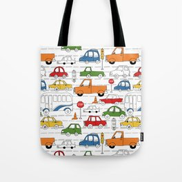 Busy Traffic Pattern Tote Bag