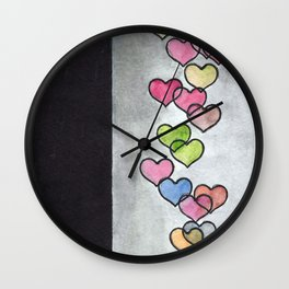 Periscope Hearts Wall Clock