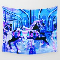 carousel Wall Tapestries featuring Carousel by WhimsyRomance&Fun