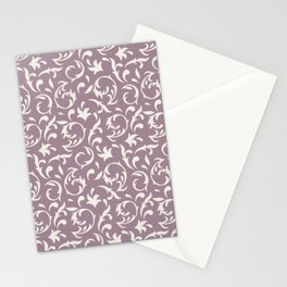Decorative Pattern in Light Lavender an Cream Stationery Cards