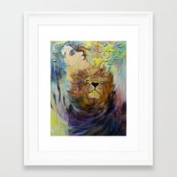 beauty and the beast Framed Art Prints featuring Beauty&Beast by Chengxi Tian