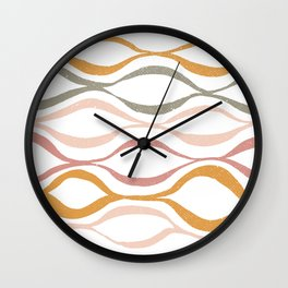 Catch the Wave (Blush) Wall Clock