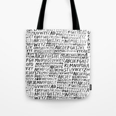 Ink Alphabet Tote Bag
