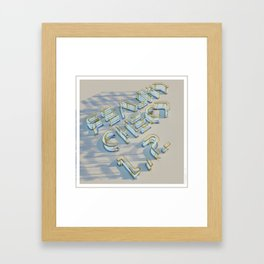 Reality Check 1, 2 Framed Art Print